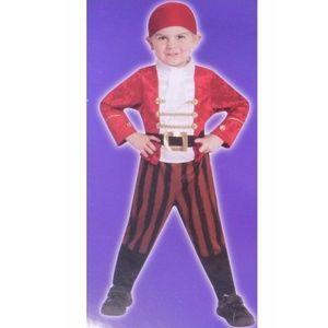 Toddler Boys LITTLE PIRATE costume Sz 2T Jumpsuit